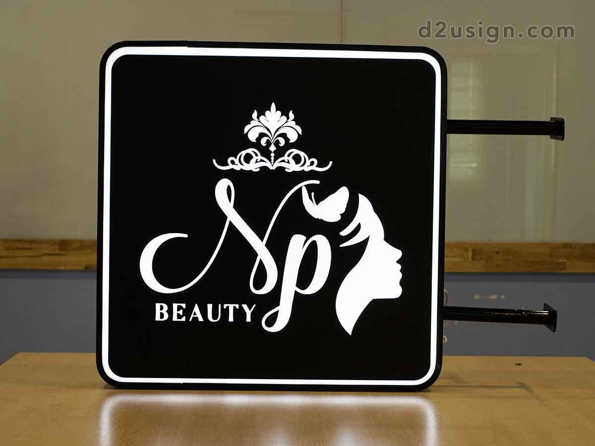ป้ายกล่องไฟ ร้าน NP Beauty