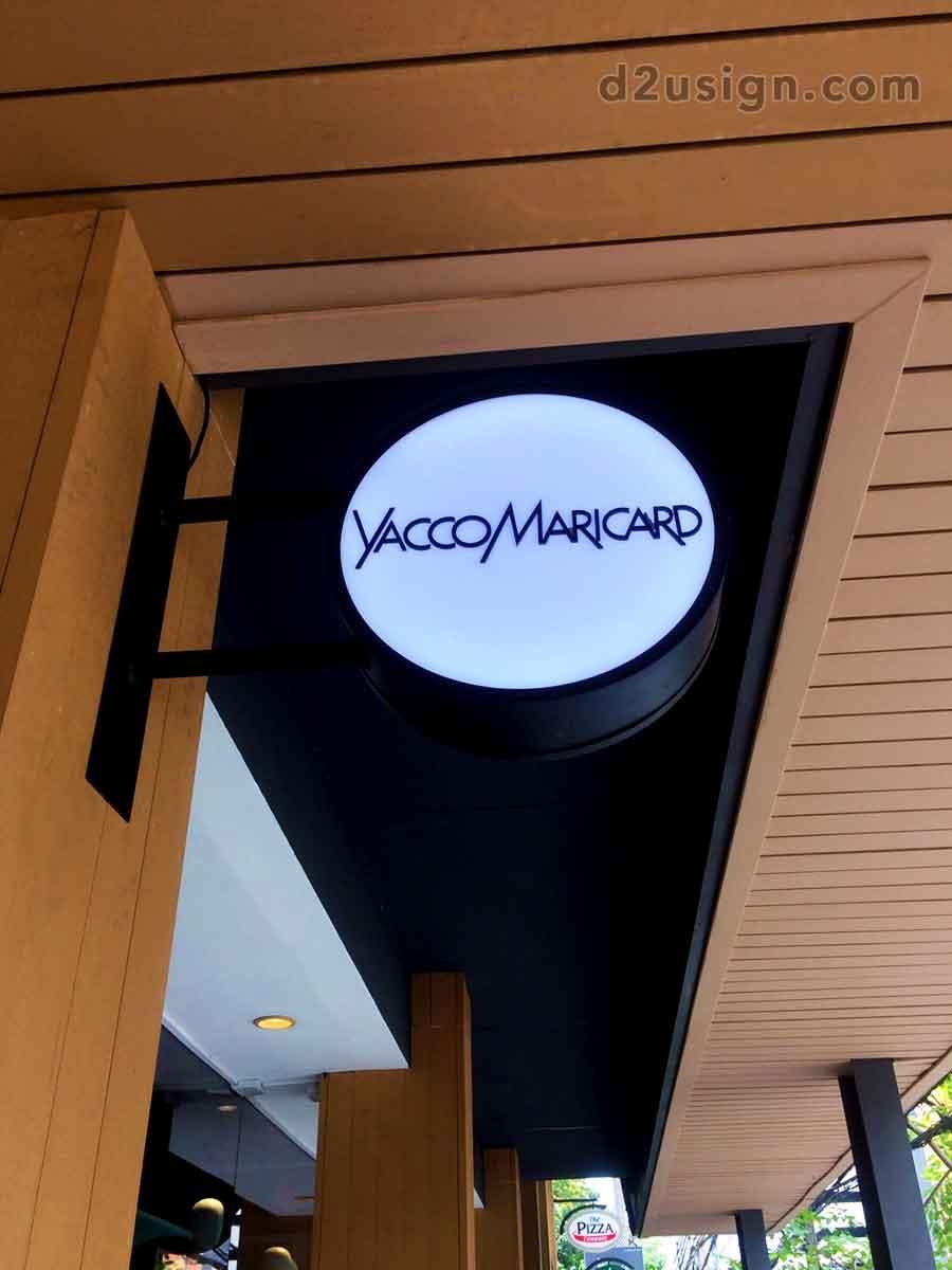 ป้ายกล่องไฟ ร้าน Yacco