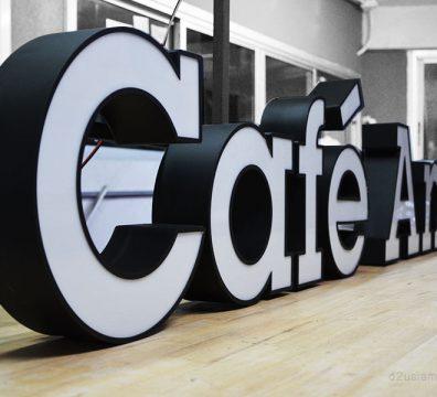 ป้าย Cafe Amazon
