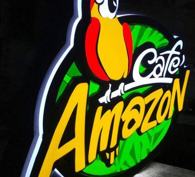 ป้ายกล่องไฟ Cafe Amazon